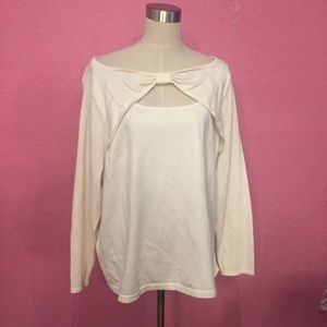Lane Bryant sweater pull over with a bow